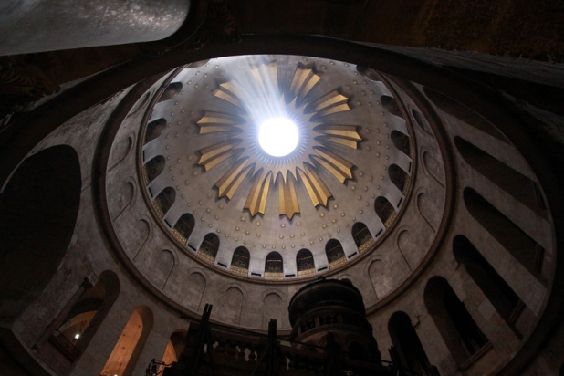 jerusalém-cristão-quarto-igreja-do-santo-sepulcro-cúpula-acima-cristo-túmulo-grande