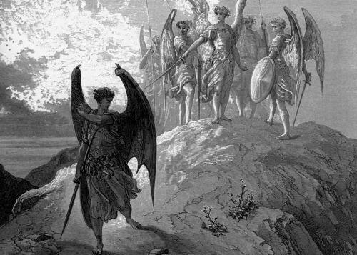 Arcángel Miguel y Lucifer