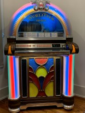 The jukebox from her father's radio station.