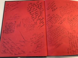 Yearbook with well wishes from students. Florida, 1980.